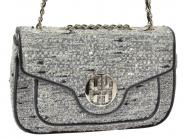 No Animal Brand Tweed-Tasche grau 1